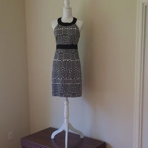 Laundry by Shelli Segal Black and White Patterned
